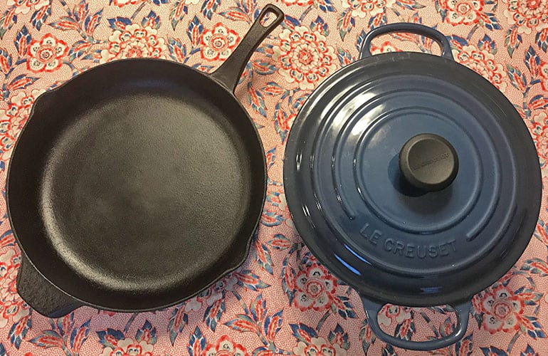 Cast Iron versus Enameled Cast Iron