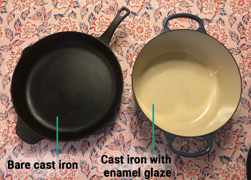 Cast Iron versus Enameled Cast Iron_construction