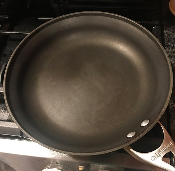 Clean Calphalon Hard Anodized Pan