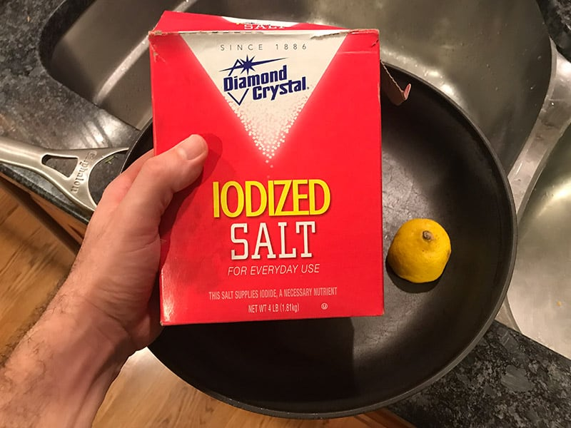 How to Clean Calphalon Hard Anodized Cookware With Salt and Lemon