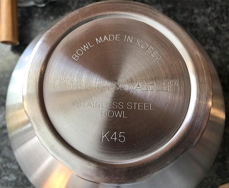 KitchenAid Mixer Bowl Made in Korea