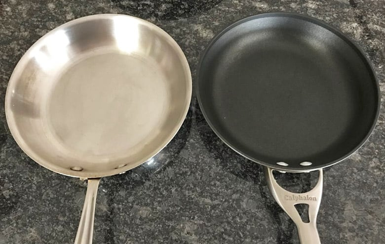 Stainless steel versus hard anodized aluminum cookware