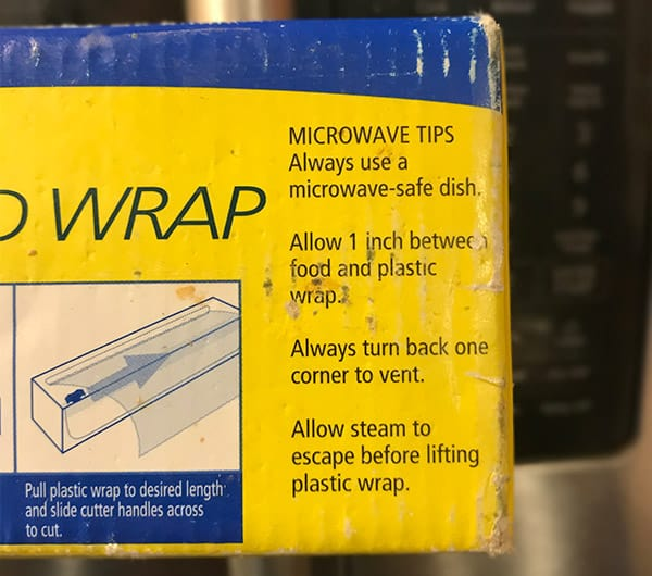 can plastic wrap go in the microwave