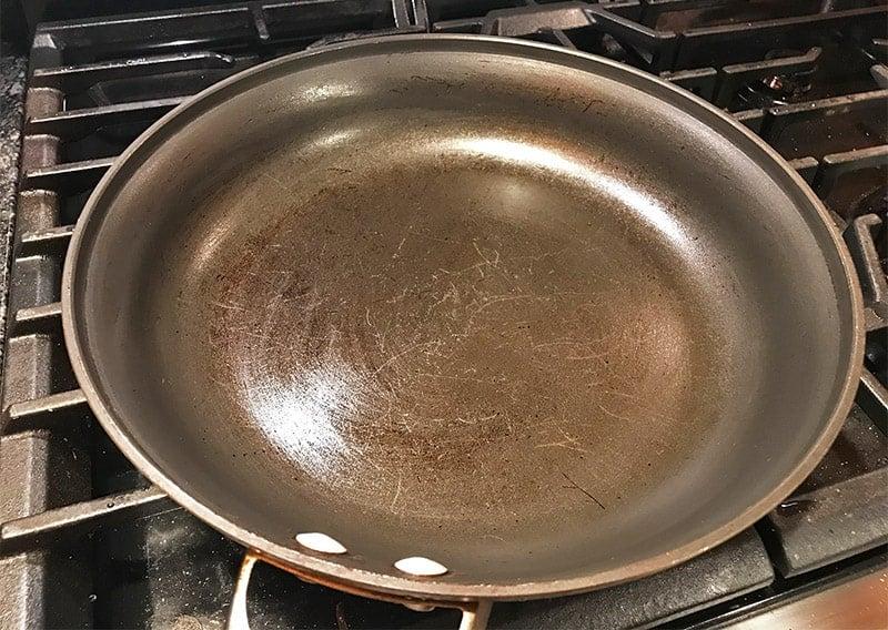 how to make a non-stick pan non-stick again
