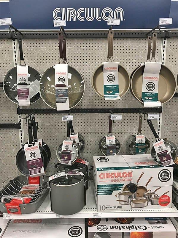 Circulon Cookware on Display