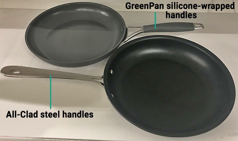 GreenPan versus All-Clad handles