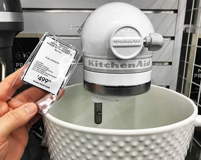 KitchenAid Mixer Price Tag
