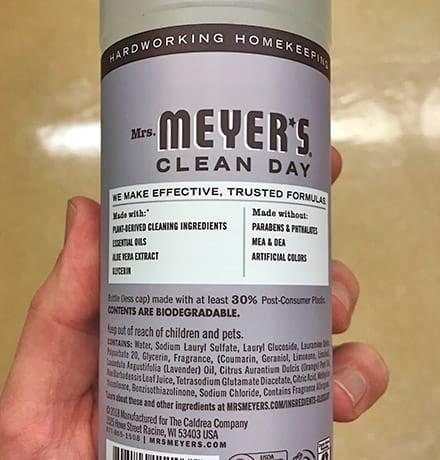 Mrs. Meyer's Ingredients