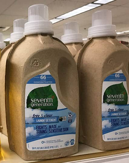 Seventh Generation Laundry Detergent Cardboard Packaging