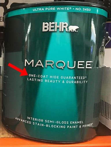 Behr Marquee One Coat Guarantee