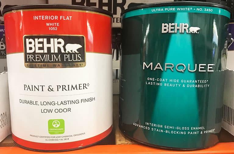 Behr Premium Plus versus Marquee paint
