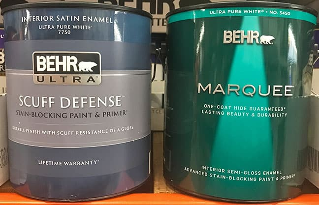 Behr Ultra versus Marquee paint