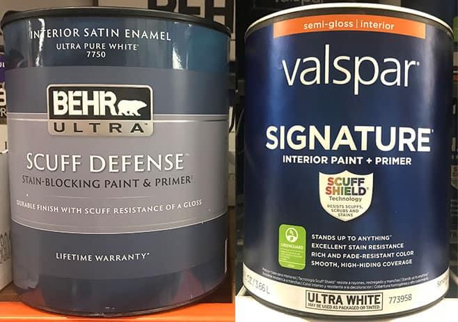 Behr versus Valspar Paint