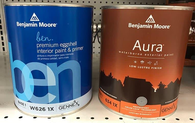 Benjamin Moore Ben and Aura Paint