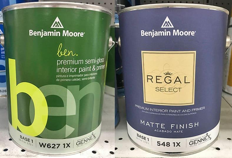 Benjamin Moore Ben versus Regal Select