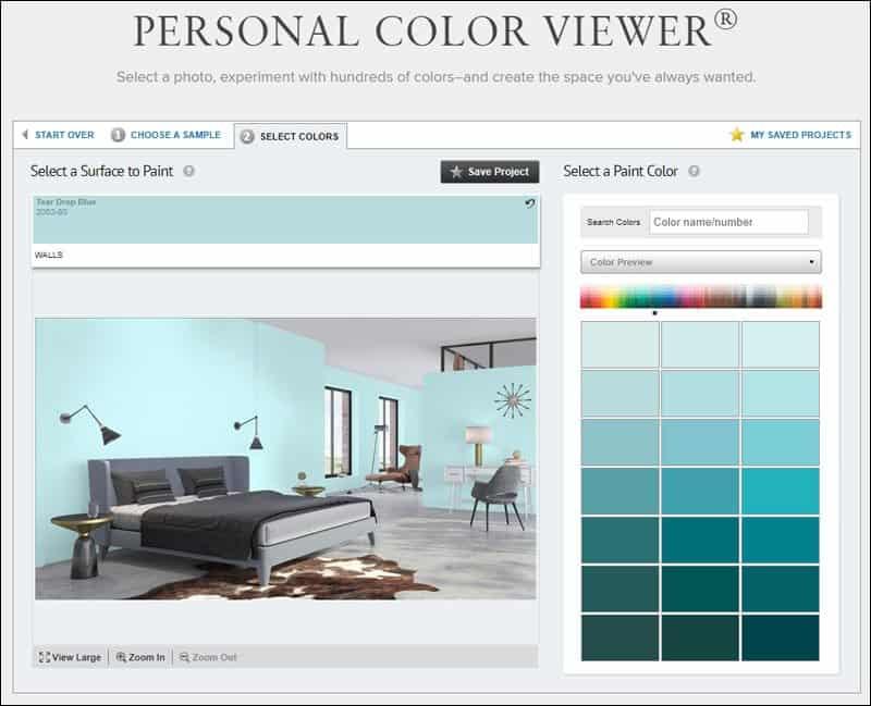 Benjamin Moore Personal Color Viewer