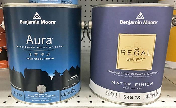 Benjamin Moore Regal Select versus Aura