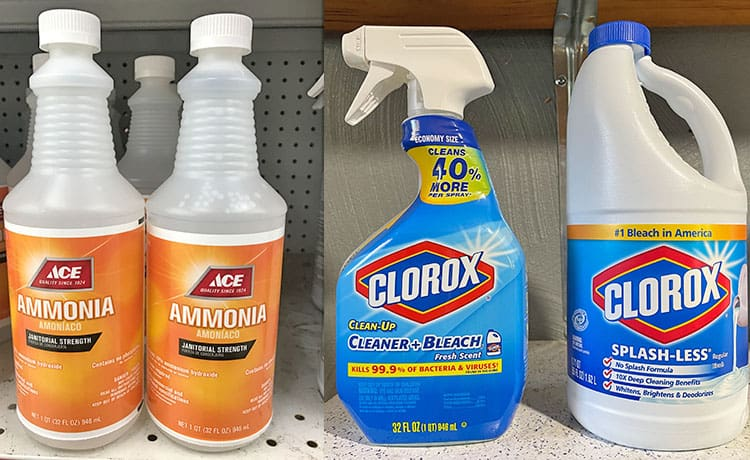 Bleach versus ammonia
