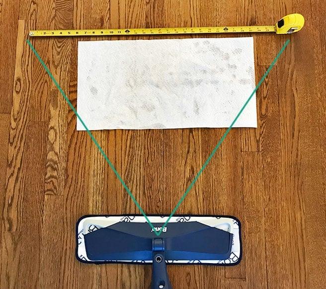 Bona Spray Mop Cleaner Coverage