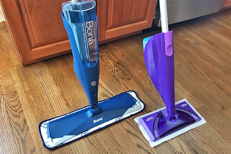 Bona versus Swiffer spray mops
