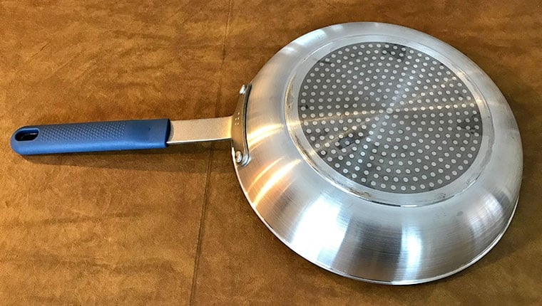 Bottom of Misen non-stick pan