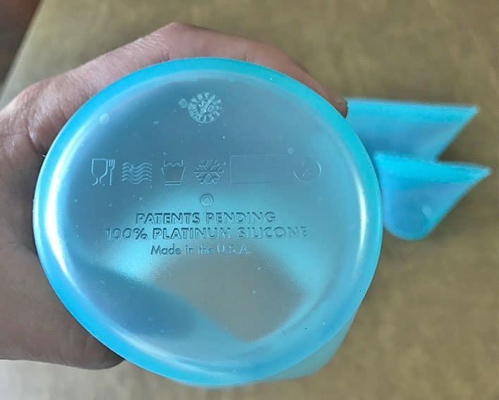 Bottom of a Zip Top container