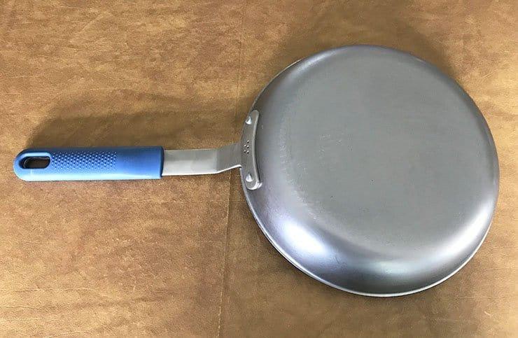 Bottom of the Misen carbon steel pan