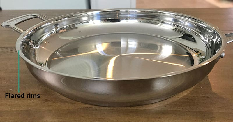 Cuisinart cookware flared rims