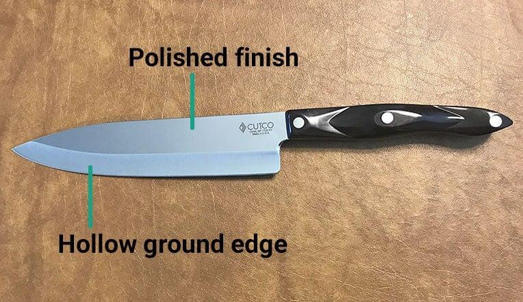 Cutco knives blade design