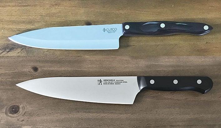 Cutco versus Henckels kitchen knives