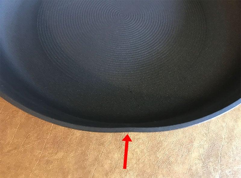 Dent in Circulon cookware