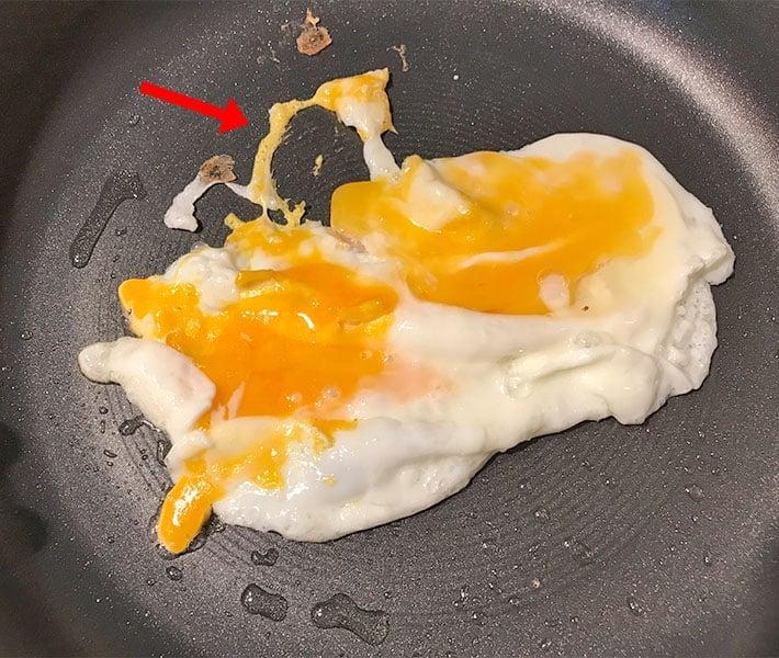 Eggs sticking to a Circulon pan