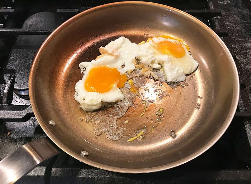 Eggs sticking to the Misen carbon steel pan