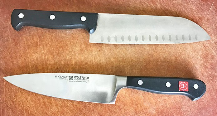 Forged versus stamped kitchen knives