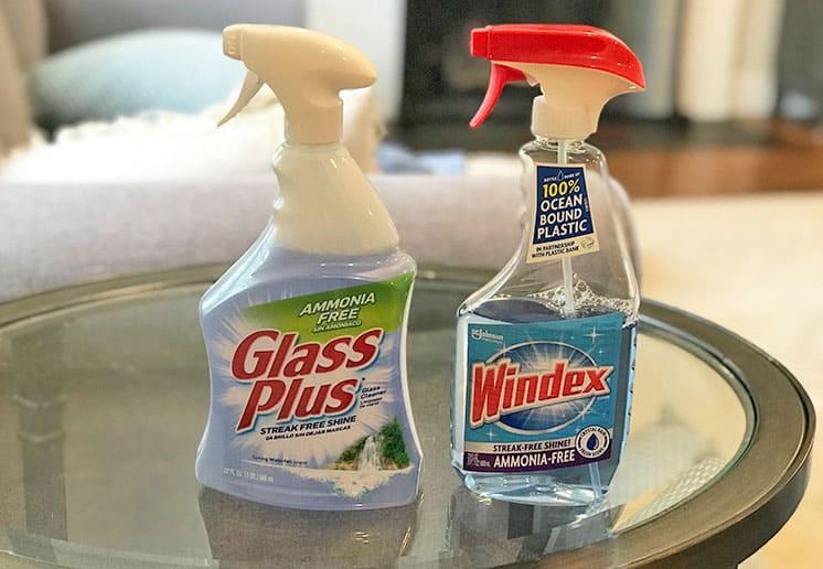 Glass Plus versus Windex