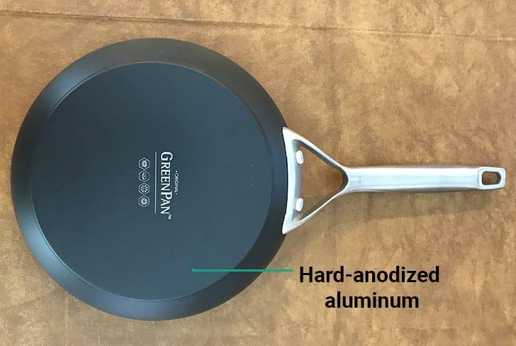 GreenPan hard-anodized aluminum base