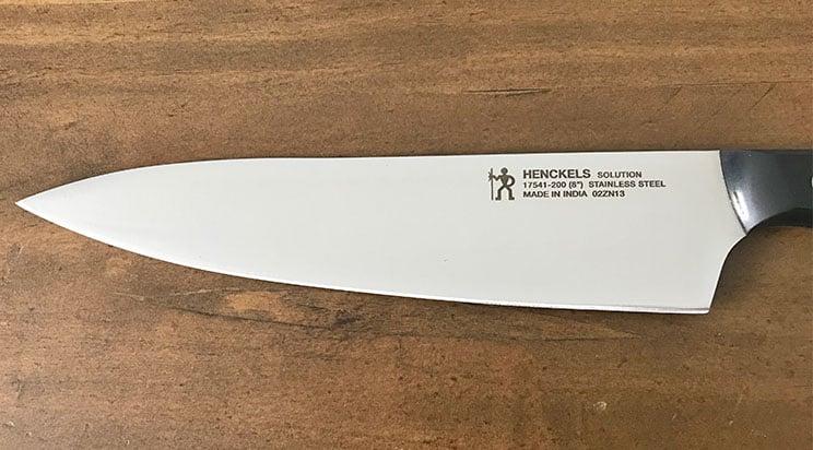 Henckels stamped blade
