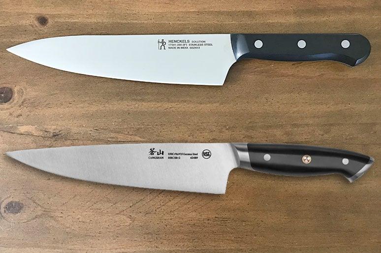 Henckels versus Cangshan kitchen knives