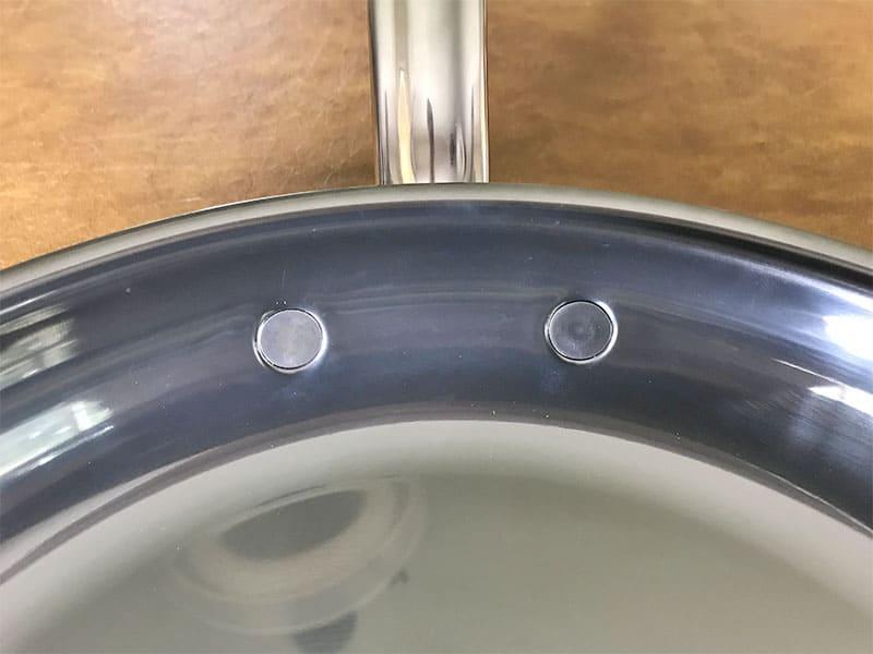 Hestan cookware flush rivets