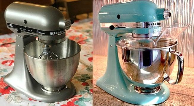 KitchenAid Classic versus Artisan Mixers