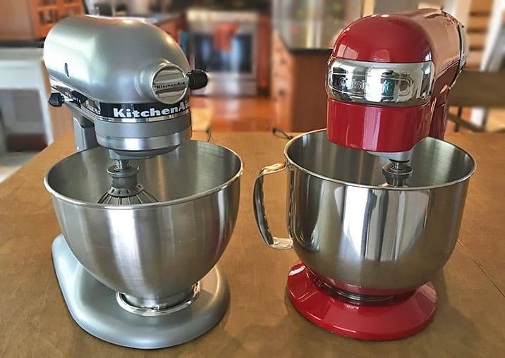 KitchenAid versus Cuisinart stand mixers