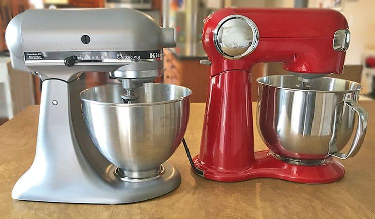 KitchenAid versus Cuisinart stand mixers_colors