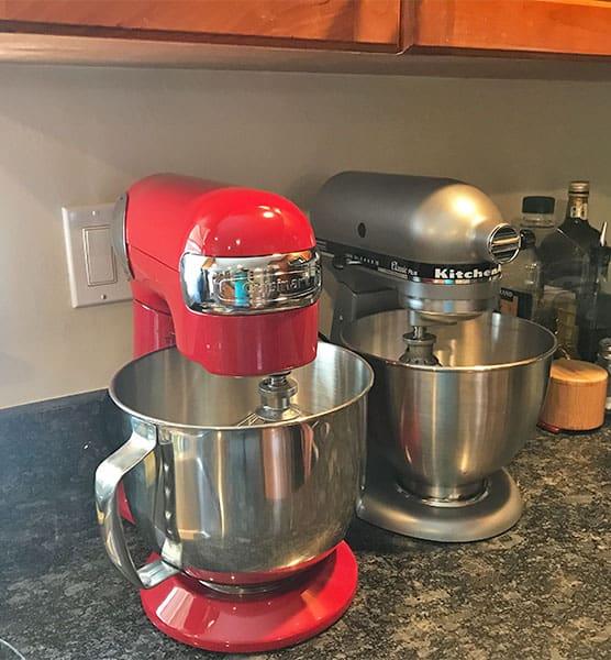 KitchenAid versus Cuisinart stand mixers_height