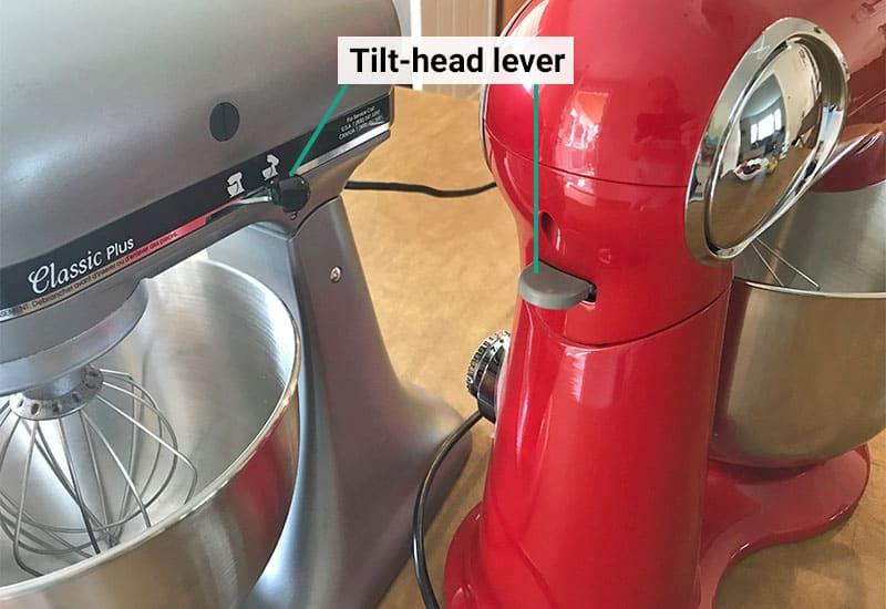 KitchenAid versus Cuisinart tilt head lever