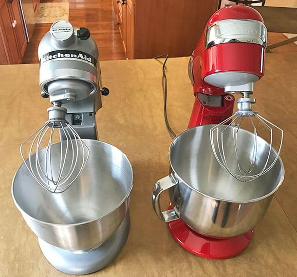 KitchenAid versus Cuisinart tilt head mixers