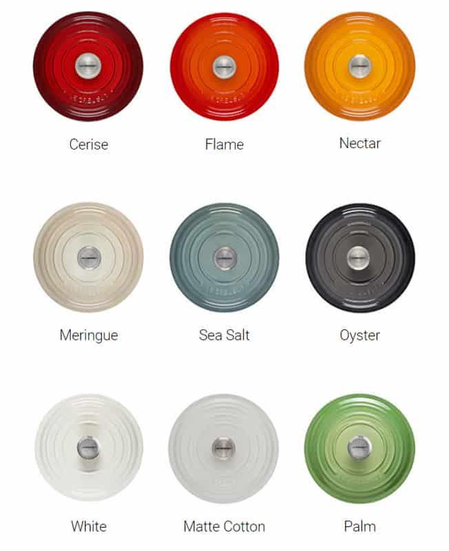 Le Creuset Dutch oven colors
