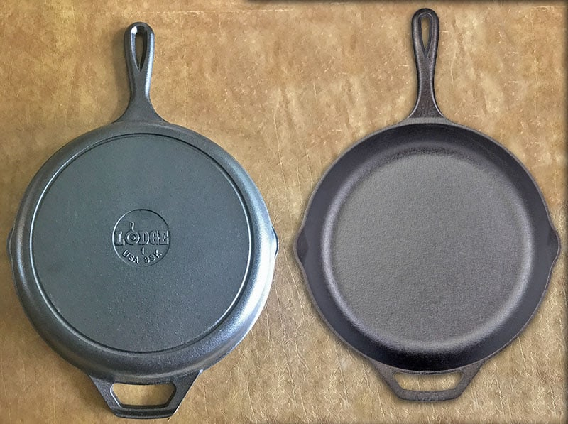Lodge Classic vs Chef Collection cast iron skillet