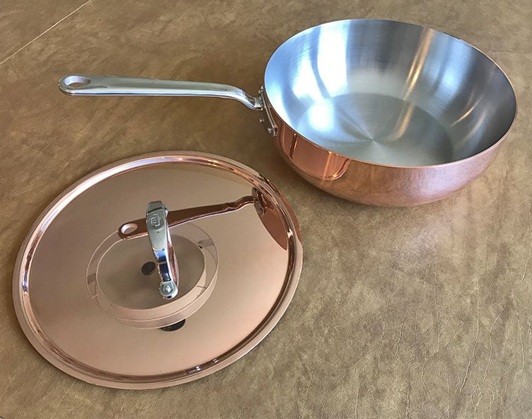 Made In Copper Saucier with Lid
