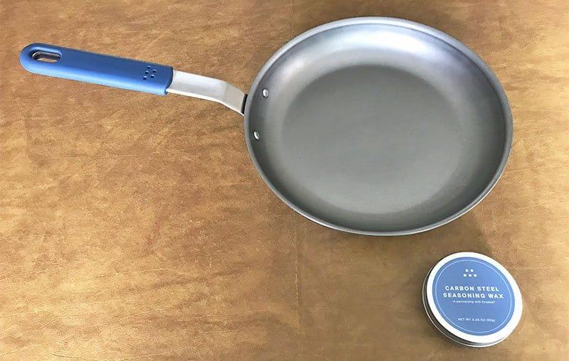 Misen carbon steel pan design
