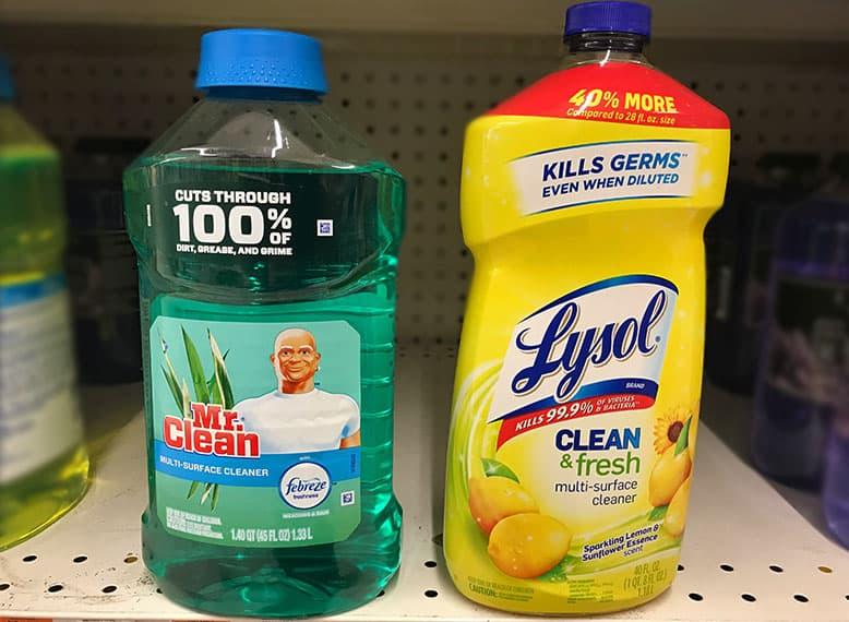 Mr. Clean versus Lysol